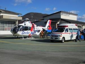 10時20分ごろ、軽井沢消防署からドクターへりが離陸